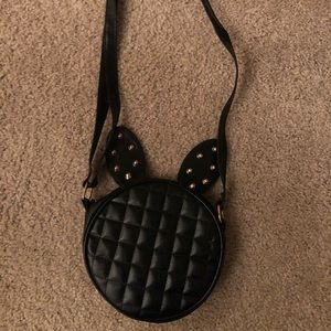 Black rabbit ears crossbody